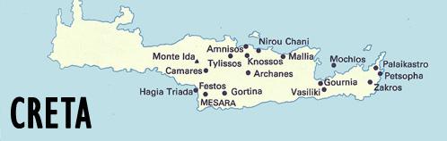 Isla de Creta. Principales Excavaciones