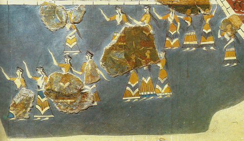 FrescoKnossos. Mujeres ceremonia pública