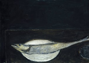 Mackerel on a Plate 1951-2 by William Scott 1913-1989