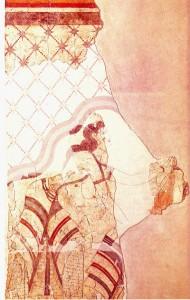 Fresco Casa de las Señoras. Thera