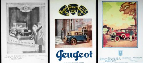 Anuncios automóviles asociación estatus. 1930