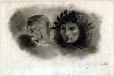 Dante y Virgilio. Delacroix