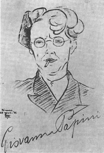 Giovanni Papini.  Por Levi Naim. 1935