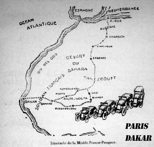 La ruta del primer París - Dakar. 15000 km de travesía por África