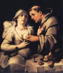 Cornelis van Haarlem el monje y la monja