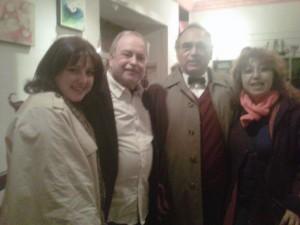 Laura GómezRecas, autor, José Luís Gracia Mosteo y Ángeles Fernández.