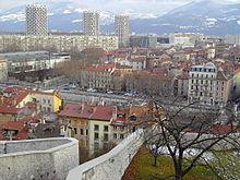 les 3 tours et la ville vues de la Bastille