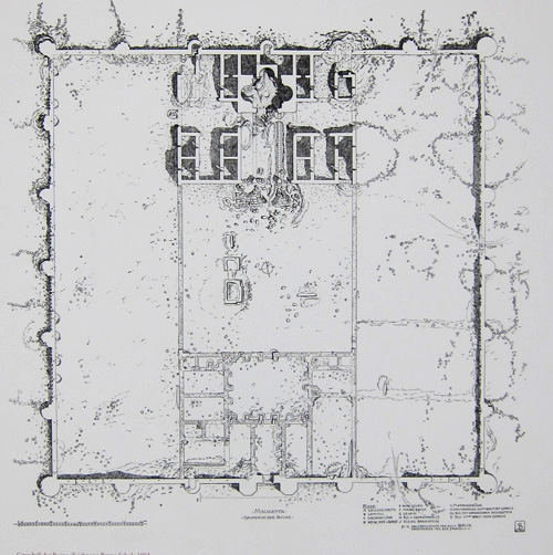 Ruinas Mschatta Schultz 1903. Planta