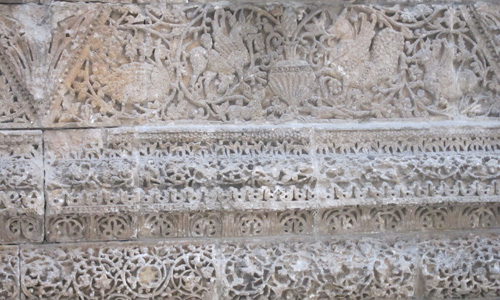 Detalle friso del palacio de Mschatta. Animales enfrentados. Museo Pérgamo. Berlín