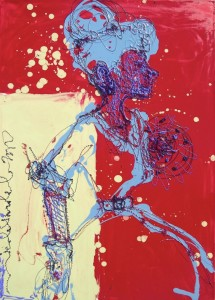 Perfil azul y rojo, 2012.