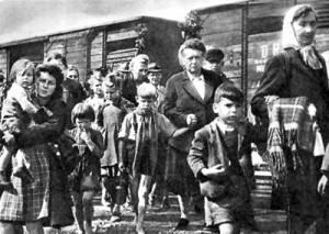 Expulsión de alemanes de los Sudetes