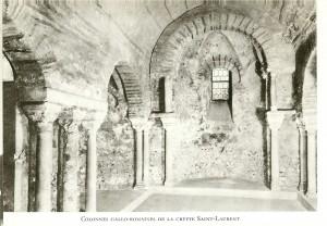 crypte st Laurent dans          le Vieux grenoble