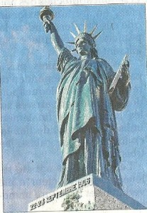 statue liberté Roybon France 1906
