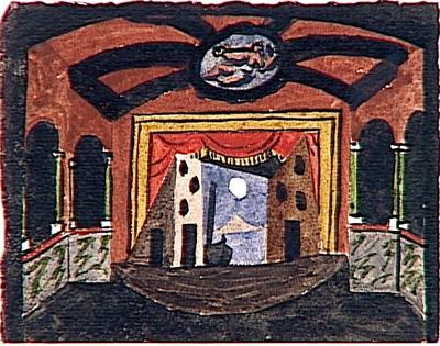 Picasso. Decorado para Pulcinella. París 1920