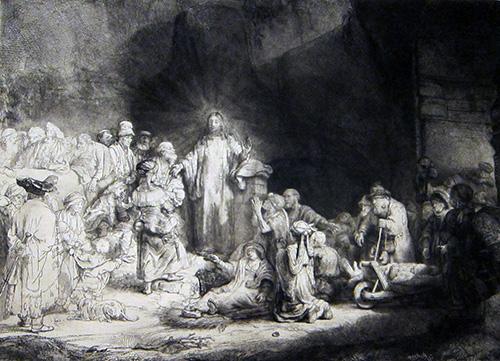 Jesuscurandoenfermos_Rembrandt