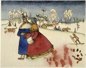 Parejapaseantes_Kandinsky_1917