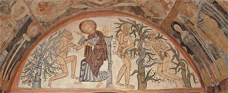 Ábide Santa Cruz de Maderuelo. Siglo XII. Pecado Original