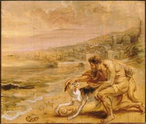 El descubrimiento de la púrpura. Rubens. Siglo XVII