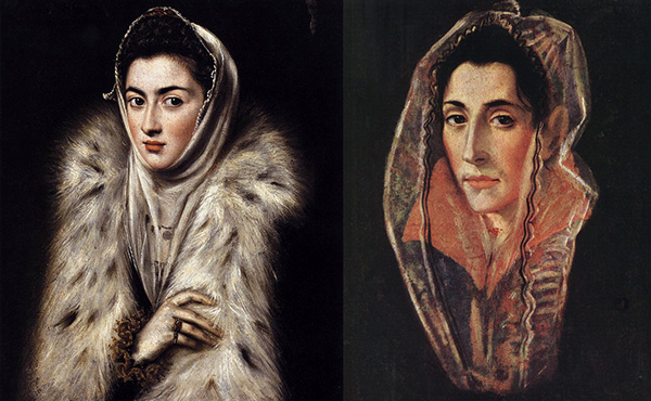 Dama del Armiño y Retrato de mujer. El Greco
