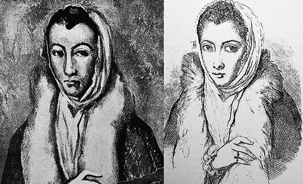 Mujer de la boa. Cezanne y Dama del Armiño. Laurent. La Gazette des Beaux-Arts