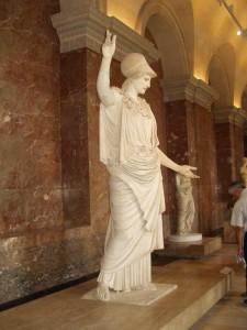 atenea. museo louvre