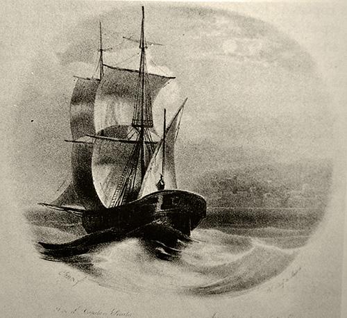 Ilustración para La Canción del Pirata de Espronceda. El Artista