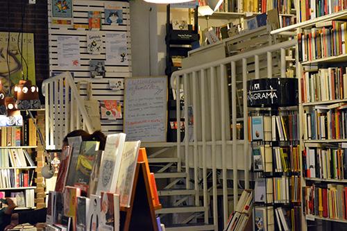 Interior Librería Rafael Alberti