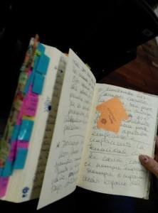 Cuaderno de notas.