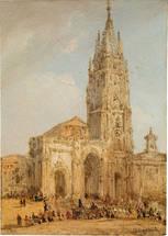 Vista fachada Catedral Oviedo.