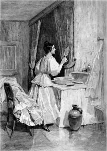Eugenia Grandet. Dibujo Daniel Hernández.