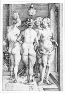 Durero cuatro mujeres desnudas.